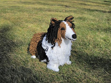 Amigurumi crochet Collie Sheltie Puppy Dog toy. Cute by Owlystore   355x473