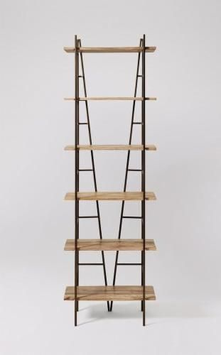 The Vernay Shelving In Mango Wood And Antique Bronze Display