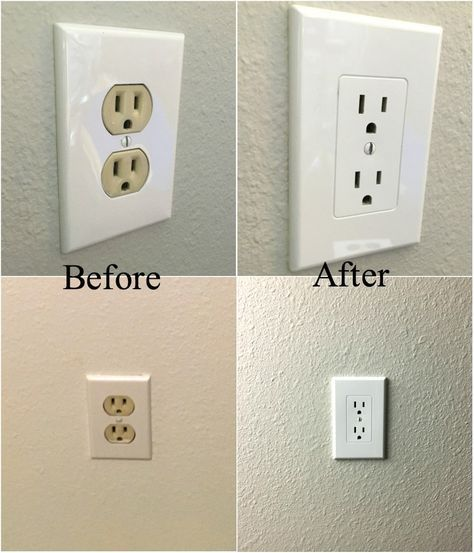 Easy Electrical Outlet Cover Tip To Fix Mismatched Electrical Outlets Dream Design Diy Home Improvement Contractors Home Addition Plans Diy Home Improvement