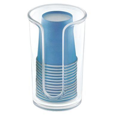 Plastic Paper Cup Dispenser Holder For Bathroom Mouthwash