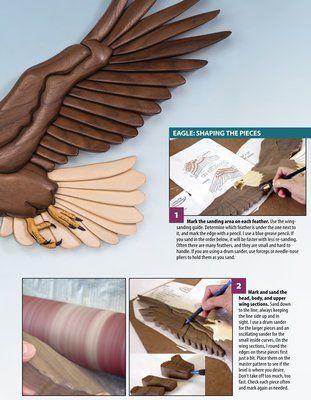 Original Intarsia wood pattern; EAGLE 2A