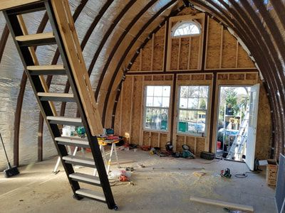 Pictures Videos Floor Plans Welcome To Arched Cabins Arched Cabin Quonset Hut Homes Arch House
