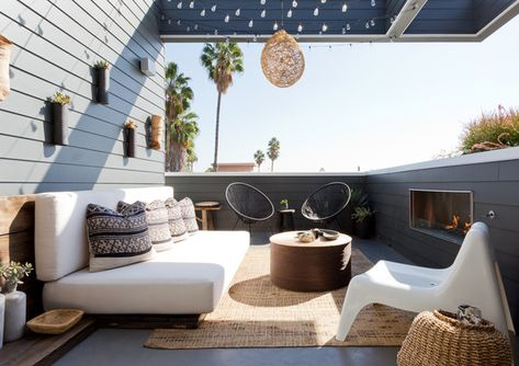 Beautiful Balcony - Pierce Brown's Bachelor Pad Brings The Drama To A Cali Cool Space - Photos