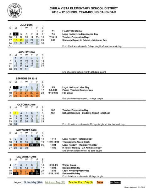 Cvesd Calendar For  School Year  Ryan School