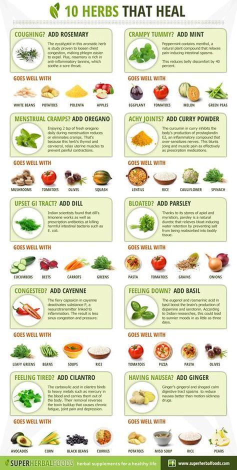healing herbs - health benefits #infographic
