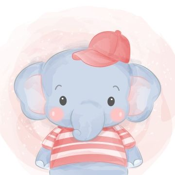 Cute Elephant Wearing Shirt And Hat Zoo Animals Clipart Adorable Animal Png And Vector With Transparent Background For Free Download Elephant Illustration Cute Animal Illustration Cute Baby Elephant