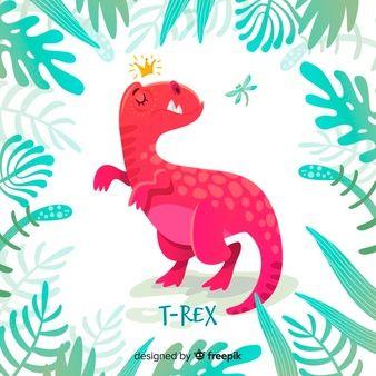 Download Flat T Rex Background For Free Cute Cartoon Wallpapers Cartoon Wallpaper Illustrator Tutorials