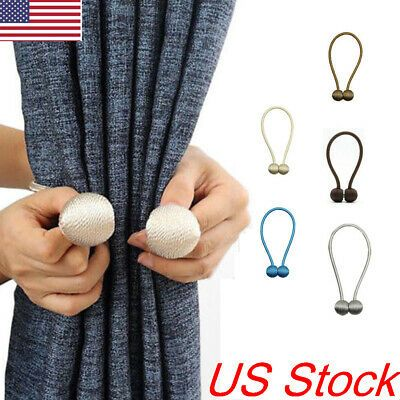 Sponsored Link 1pcs Magnetic Curtain Hooks Rope Buckle Tie Backs Holdbacks Home Decor In 2020 With Images Magnetic Curtain Curtain Hooks Curtain Rod Holders