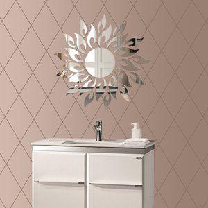 壁鏡 壁貼りシール インテリア鏡貼 壁 装飾ミラー リビングルーム