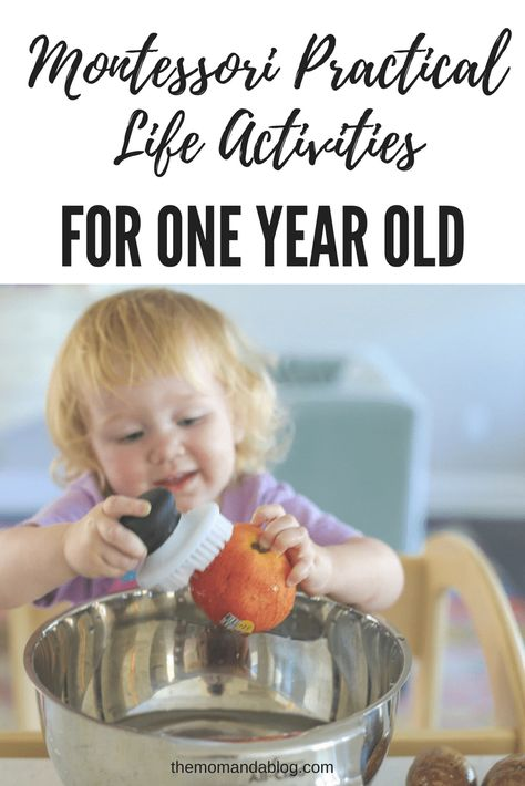 Montessori Practical Life & Other Activities {18 months -24months)   The Mom and a Blog