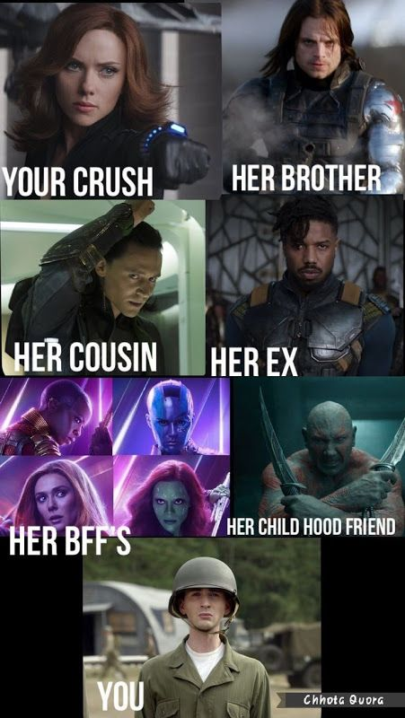 Funny Memes Memes On Mcq Characters Marvel Jokes Funny Marvel Memes Marvel Memes