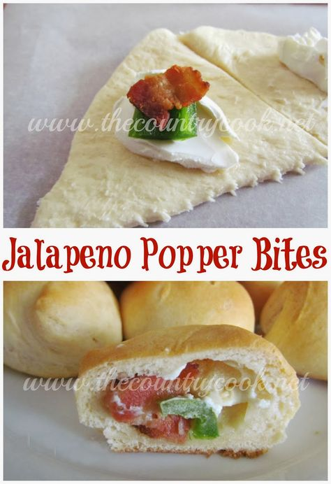 The Country Cook: Jalapeno Popper Bites