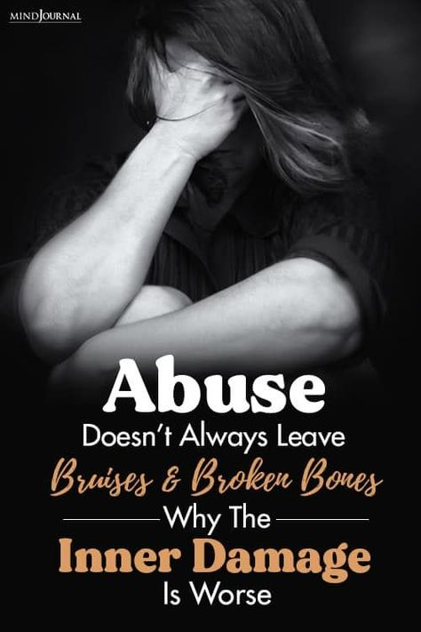 Sometimes abuse is not just about broken bones and bruises, the inner damage it leaves behind can be much worse and more painful. #emotionalabuse #mentalabuse