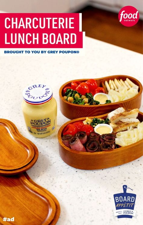 #ad This charcuterie lunch board with Dijon chickpeas will make your on-the-go lunch feel EXTRA special 👏 Sponsored by #GreyPoupon.