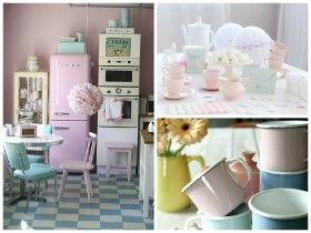 Envie De Retro Pastel Dans Ma Cuisine Decoration Cuisine