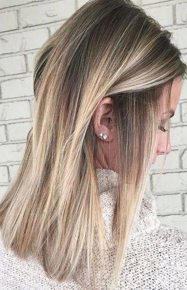 50 Gorgeous Balayage Hair Color Ideas For Blonde Short Straight Hair Short Straight Hair Is Perfect For Short Hair Balayage Balayage Hair Short Straight Hair