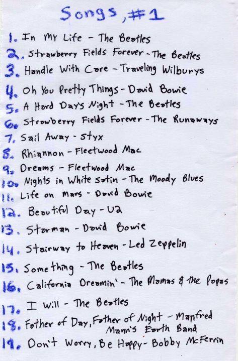 Playlist // Songs, #1 – Ashlee Craft's World