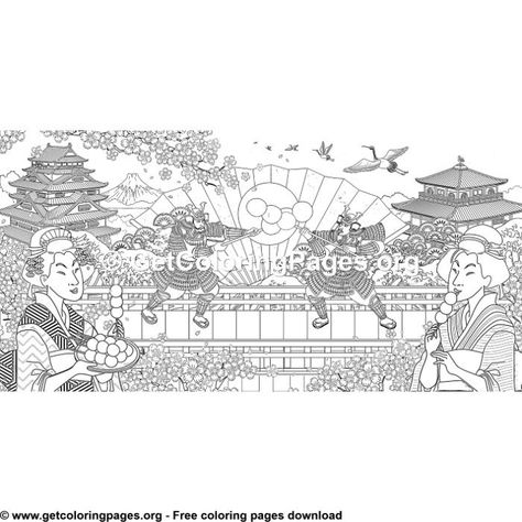 Japan Landscape Mt Fuji Coloring Page 936 Coloring By Miki