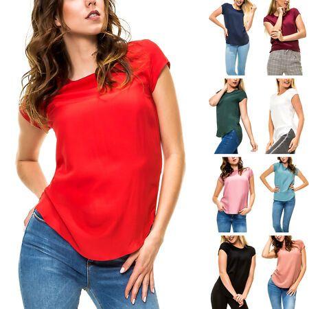 Only Damen Langarmbluse Hemdbluse Business Damenshirt Shirt Top Color Mix NEU