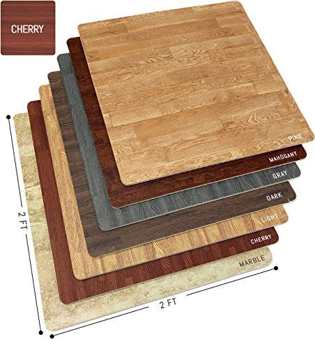 Sorbus Wood Floor Mats Foam Interlocking Wood Mats Each T Https