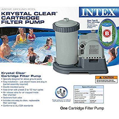 Amazon Com Intex Krystal Clear Cartridge Filter Pump For Above Ground Pools 2500 Gph Pump Flow Rat Pool Filters Swimming Pool Filters Pool Pumps And Filters