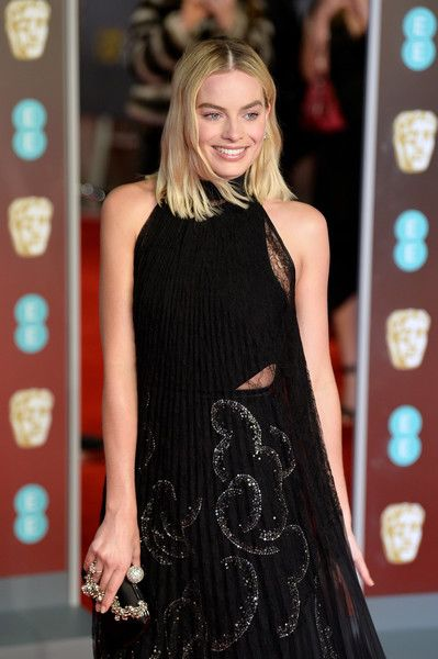 Margot Robbie attends the EE British Academy Film Awards (BAFTA).