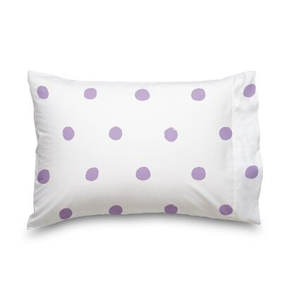 Soft Sheets for Deep Matresses 4 Pieces in Lilac Polka Dot Full Size Sheet Set