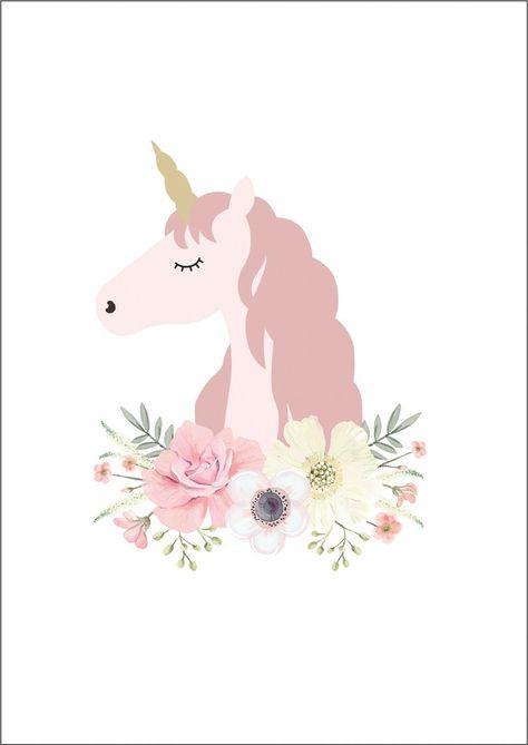 Unicorn Princess Print - Ginger Monkey . Lámina para descargar e imprimir de unicornio - unicorn Pink