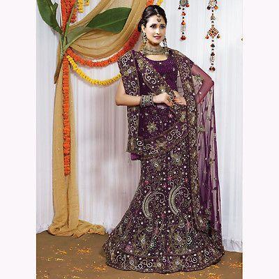 Embroidered Designer Bridal Lehenga Choli Indian Bollywood Wedding Ethnic Lehnga