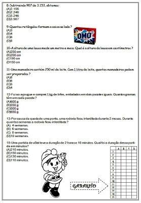Simulado De Matematica Com Gabarito 4º Bimestre Atividades De