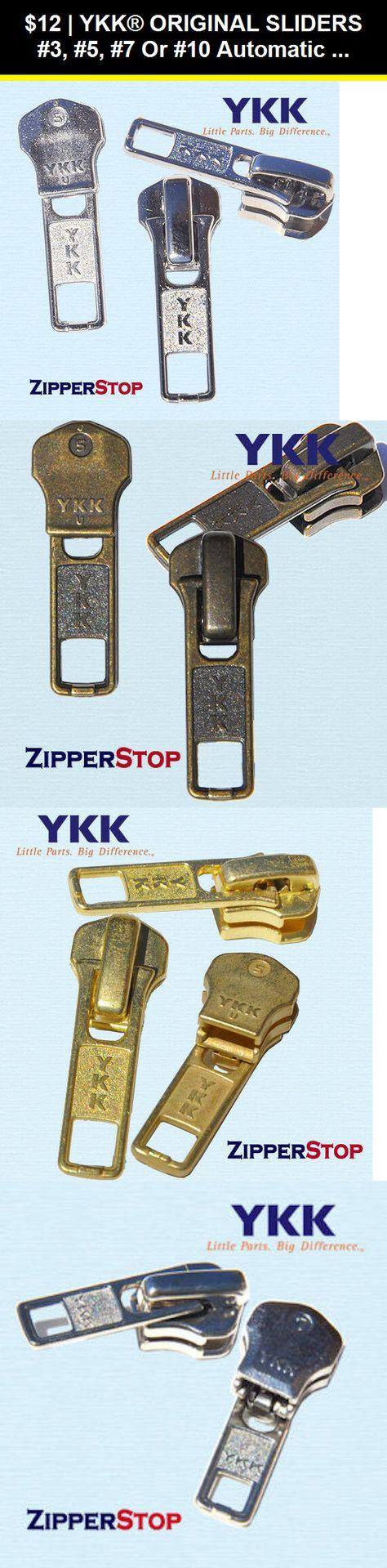 #5 YKK Gold Locking Sliders Pack Of 10