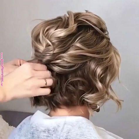 Stylish Hairstyle ????♀️ | Hairstyle | Hair, Hair styles, Short hair styles