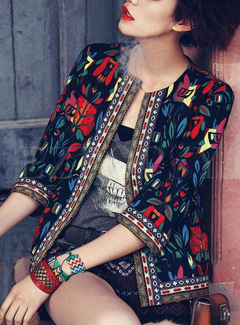 Cheap floral jacket, Buy Quality jacket plus size directly from China jacket size Suppliers: spring autumn New 2016 women coat bohemian embrodiery floral Jacket plus size women clothing Fashion casual female jackets