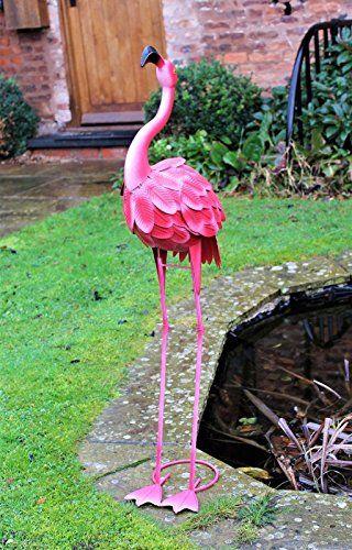 Flamant Rose En Metal De 100cm Decoration Pour Jardin Etang Rose Decoration Jardin Jardin Rose Flamant Rose