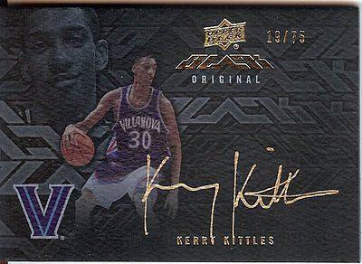 Kerry Kittles 2013-14 UD Black Signatures Autograph Auto Nets #S-KK 19/75