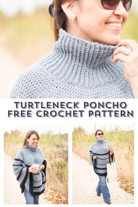 The Montana Poncho Crochet Pattern   Crochet Accessories for Women ...