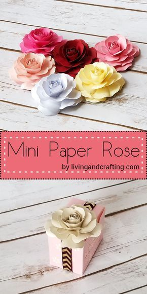 Mini Paper Rose Living And Crafting Paper Flowers Diy Paper Roses Diy Paper Roses