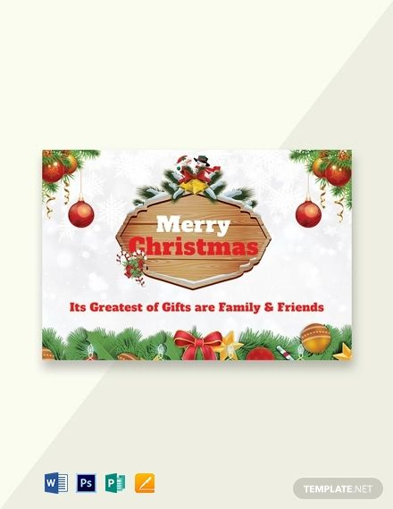 Free Merry Christmas Gift Voucher Template Word Psd Apple Pages Merry Christmas Card Greetings Christmas Greeting Card Template Greeting Card Template
