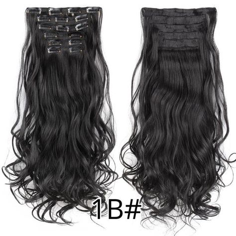 Body Wave Ombre Blond Clip in Hair Extensions | One piece ...