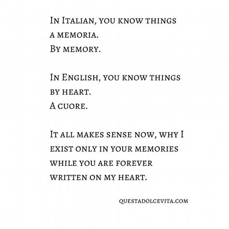 By Memory, By Heart