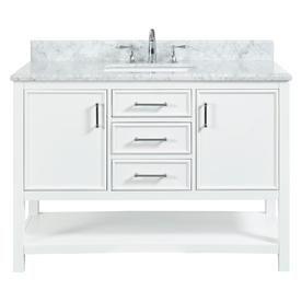 Dove White Single Sink Bathroom Vanity