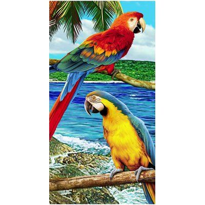 The Beach Collection Amazon Mackaw Endanger Wildlife Beach Towel