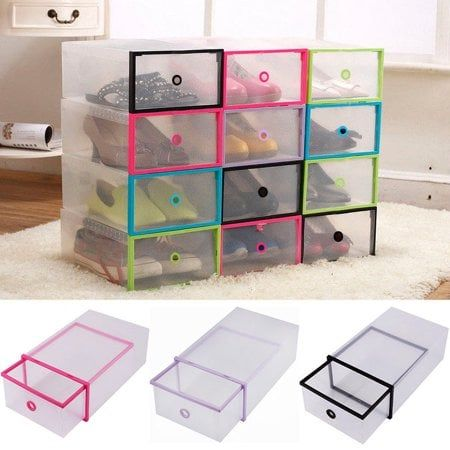 Yosoo Shoe Box Home Organizers Shoe Box Storage Clear Plastic Shoe Boxes Plastic Shoe Boxes