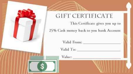Silent Auction Gift Certificate Templates Gift Certificate Template Gift Certificates Gifts