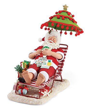 2-Piece Lounging Starfish and Ball Beach Chair Christmas Ornaments