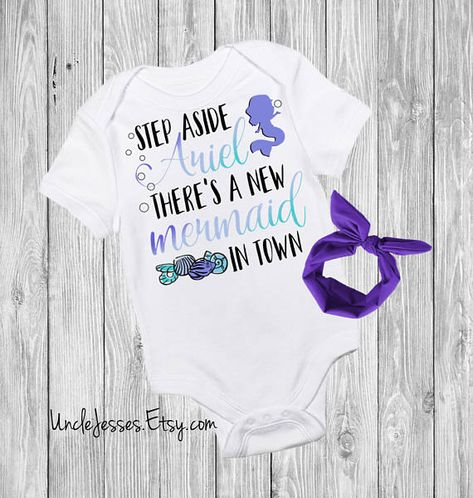 Step Aside Ariel Baby Vest Babygrow Baby Gifts Disney Little Mermaid