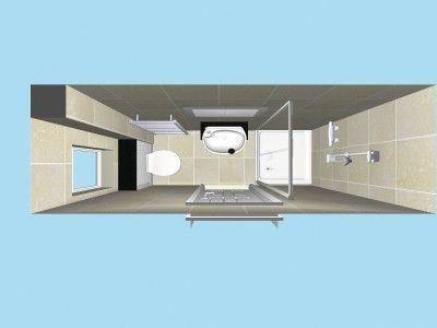 Compact Ensuite In Plan View In 3d Decoratingbathrooms Planos De Banos Pequenos Cuartos De Banos Pequenos Diseno Banos Pequenos