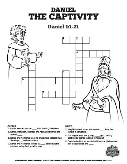 This Daniel 1 Crossword Puzzle Will Get Your Kids Searching Their