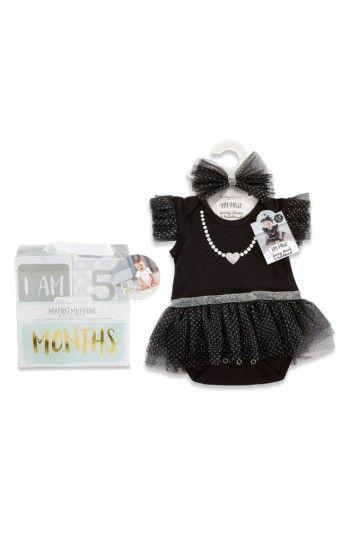 Free Shipping And Returns On Baby Aspen My First Party Dress Headband Milestone Blocks Set At Nordstrom Com She Ll Baby Aspen Party Dress Milestone Blocks