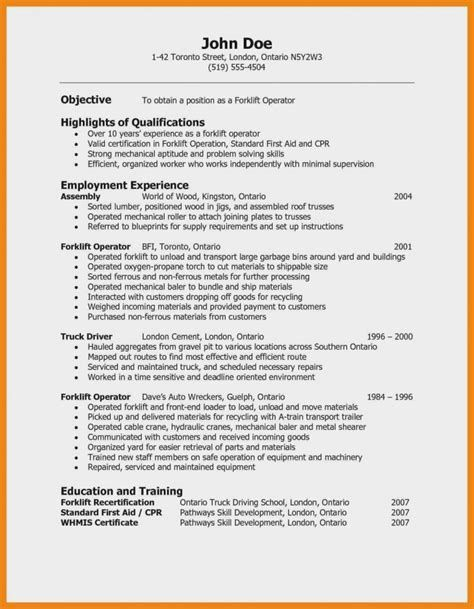 Resume Objective Sample 97 Objective For A Warehouse Assembly Line Worker 796 Sample Resume